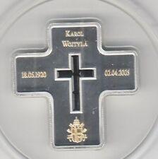 Liberia 10 $2005 Karol Wojtyla Silver Gold Application Swarowski