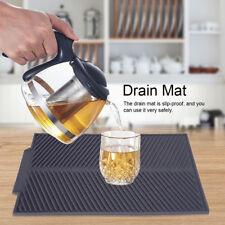 Silicone Dish Draining Mat Drainer Kitchen Washing Up Tray Drying Mat P3