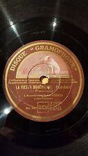 FRANCE 78rpm RECORD Gramophone JEAN VAISSADE Accordeon FRANCIS LOPEZ La Fiesta..