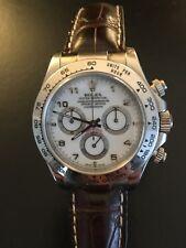 Rolex Cosmograph Daytona, Armbanduhr mit Gehäuse aus Weißgold 18K, Lederarmband