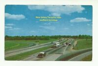 NEW JERSEY TURNPIKE NEAR SOUTHERN TERMINUS CHROME POSTCARD