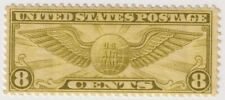 Mint 1931-1932 USA - Airmail - Winged Globe - 8 Cent Stamp
