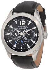 New Nautica Men Classic Coin/NCS 600 Black Multifunction Watch 44mm N14621G $145