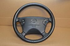 99-02 W208 MERCEDES CLK320 CLK430 STEERING WHEEL W/ AIRBAG BLACK AIR BAG SRS