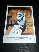 THE LIST OF ADRIAN MESSENGER, film card [George C Scott, Dana Wynter]