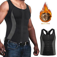 US Men's Weight Loss Workout Neoprene Body Shaper Sweat Sauna Suit Exercise Vest