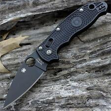 Couteau Spyderco Manix 2 Black Lightweight Folder Lame CTS BD1 SC101PBBK2