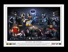 BATMAN: THE MOVIES -  MONTAGE PRINT