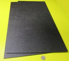 "Black ABS Sheet 1/8"" (.125"") X 12"" X 24"" Haircell Textured One Side, 2 Units"