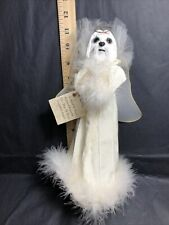 New ListingMaltese Angel Dog Christmas Tree Topper New Halo And Wings
