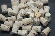 10off 16mm - 21mm Cork Stoppers Bungs Corks Fishing Test Tube Pack of 10 (ref6)