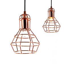[Lux.Pro] Lámpara colgante cobre de techo lámpara de colgar retro diseño vintage
