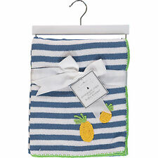 Manhattan Kids Luxurious Pineapple Stripe BABY BLANKET 100% Cotton - Great Gift