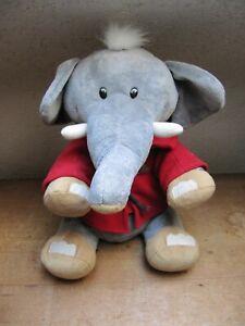 Bastitoy Elefant grau 40 cm Stofftier Kuscheltier Plüschtier mit rotem Hoody