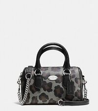 NEW Coach Baby Micro Bennett  Satchel With OCELOT PRINT