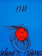 Vintage 1980 Roland Garros French Open Tennis Poster  A3 Print