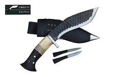 "Genuine Gurkha Knife-8"" Blade Black,(Rust Free) Bone+wooden Handle khukriGK&Co"