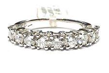 anello veretta in oro bianco 18 kt con 9 diamanti ct 1,28 F VVS1 n 13,5