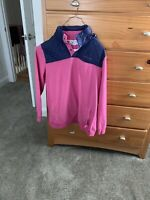 Women's Vineyard Vines Hot Pink Quilted Nylon Shep Shirt with hood Size Large