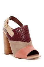 Cole Haan Tabby Slingback Block-Heel Mules Size 9 ZNFNDEL-DUNE SD Leather/Suede