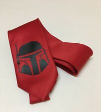 Boba Fett, Star Wars Necktie, New, Red