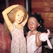 """Kate & Phoebe"" by Artist Carol Trobe Resin Dolls #10/20 1996"