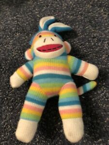 Sock Monkey Bunny Plush