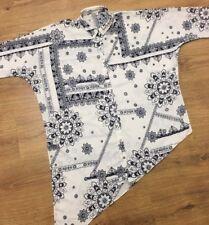 RIVER ISLAND Oversized Asymmetrical Paisley Geometric Blouse Shirt Size 6 UK