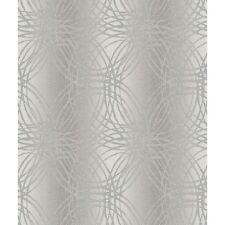 Grandeco Leon Silver Grey Geometric Circles Glitter Wallpaper (BOA-015-03-4)