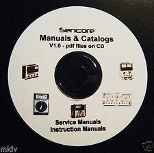 14 Sencore Manuals, 6 Catalogs pdf on CD - SG165, SG80, PA81, service schematic