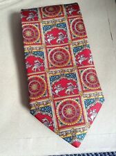 LIBERTY OF LONDON Luxury Red 100% SILK TIE Christmas Gift