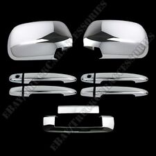 For TOYOTA Tacoma 2005-2010 Chrome Covers Full Mirrors+4 Doors with PK+Tailgate