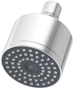 Showerhead 3 in. 1-Spray Round Wall Mount in Chrome with Self-Cleaning Nozzles