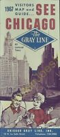 Vintage Travel Brochure 1967 Visitors Map and Guide See Chicago The Gray Line