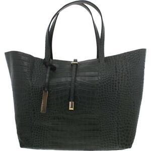 Vince Camuto Womens Leila Green Leather Tote Handbag Purse Extra Large BHFO 8130