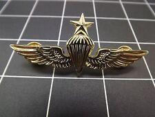 """NEW Lapel Pin WING USN-USMC PARACHUTE SENIOR GOLD 2-3/4"""""""
