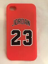 JORDAN COVER FOR IPHONE 4/4G/4S RUBBER SILICONE SKIN CASE LOGO BULLS MICHAEL NEW