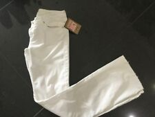 NWT Juicy Couture New & Genuine Ladies White Cotton Trousers UK 8/10 With Logo
