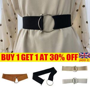 Women Ladies Wide Fashion Belt Women Black Cinch Waist Belt Elastic Stretch YE47