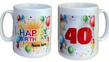 Personalised Birthday Mug. Add Name And Age. Mugs For Birthdays Gift Ideas