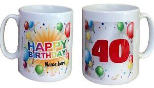 Personalised Birthday Mug. Add Name And Age. Mugs For Birthdays Gift Ideas