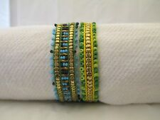 Set Of Two Tonal Pull Museo Bracelets In Turquiose/Green  Tones By Pink House