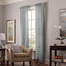 allen + roth Williamston 84 inch Grey Polyester Rod Pocket Single Curtain Panel