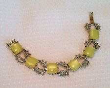Vintage yellow moon glow thermoset bracelet