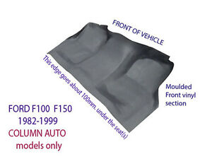 Moulded Rubber Vinyl Front Floor for Ford F100 F150 F250 F350 1982-1999 Auto