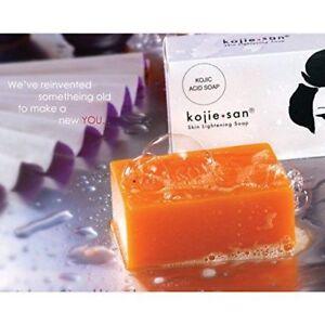 Genuine 3X65g Kojie San Kojic Acid Soap Bars Skin Lightening Kojiesan Whitening