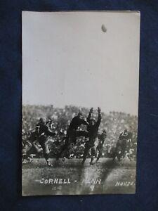 RP Cornell vs Pennsylvania College Sports Football Game 1915 Postcard
