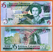 EAST CARIBBEAN STATES ND(2008) UNC 5 Dollars Banknote Paper Money P-47a PrefixCL