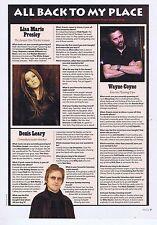 LISA MARIE PRESLEY / WAYNE COYNE / DENIS LEARYorIginal press clipping20x28cm