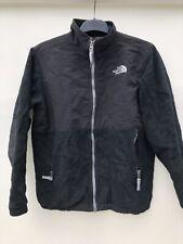North Face Fleece Jacket Black With Logo Large Boys VGC 135
